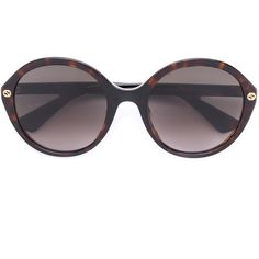 45d2fc635a9 Gucci Eyewear oversized round sunglasses (11.885 RUB) ❤ liked on Polyvore  featuring accessories