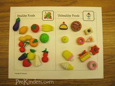 food classification printable using dollar spot erasers