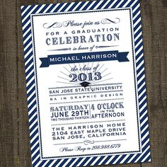 Navy+and+White+2013+Graduation+Printable+Party+by+partymonkey,+$15.00