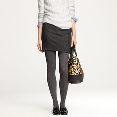 I need to either make this skirt or run out and pick one up.  Tights can be found at the Rack.  Shoes?