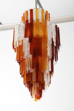 Impressive Tri-color Large Venini Chandelier. | From a unique collection of antique and modern chandeliers and pendants  at http://www.1stdibs.com/furniture/lighting/chandeliers-pendant-lights/