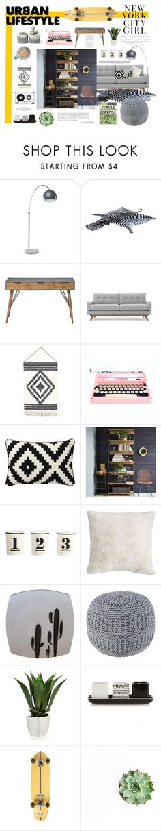 """Urban Lifestyle"" by greenvalleynest ❤ liked on Polyvore featuring interior, interiors, interior design, home, home decor, interior decorating, Lene Bjerre, Thrive, West Elm and H&M"