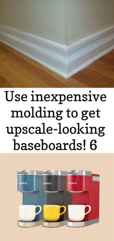 #Baseboards #Inexpensive #molding #upscalelooking use inexpensive molding to get Home Improvement Tv Show, Home Improvement Loans, Home Improvement Projects, Tv Show Logos, Wood Bridge, Baseboards, Home Organization, Home Depot, Woodworking Projects