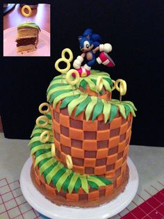 #2 Sonic Green Hill Zone Cake by ~Kalan on deviantART