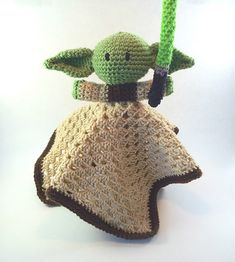 To celebrate May The 4th Be With You, I offer you my FREE Yoda Lovey pattern. This is a quick & easy project to crochet a cozy Yoda Lovey for your little Star Wars fan.