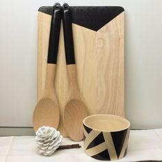 Набор для кухни: разделочная доска, ложки, пиала