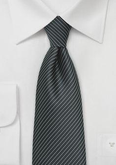 Krawatte nachtschwarz Lamellen-Linien