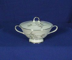 Grace China Japan Alyson Pattern 566 White Sugar with Lid bfe1688 #GraceChina