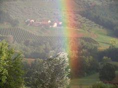 Tuscany, rainbow in Corte Brincolo