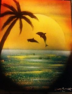Easy Paintings Of Dolphins Trees, palm trees and dolphins on pinterest