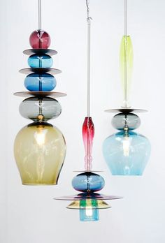Beautiful translucent glass pendants by Curiousa & Curiousa