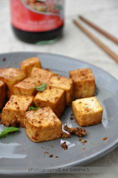 Tofu glassato con zenzero