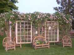 A Pergola I designed and have at my art studio and farm at Imagine Farms in Jamesport Long Island.