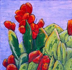 New  CACTUS FRUIT APPLES An Original Fine Art by AlanKrugFineArt, $300.00