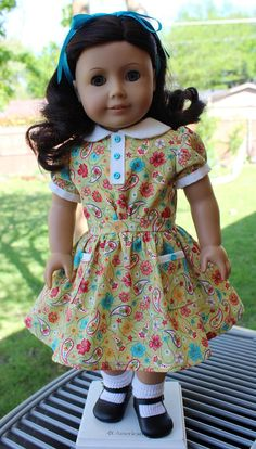 1930's Style Spring Dress Fits American Girl Ruthie, Kit, Designed4Dolls