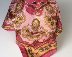Check out Pink Floral Paisley Scarf - Gift for Daughter in Law, Birthday gift Coworker Gift Multi color scarf, Chemo Pink Scarf, Secretary's Day gift on blingscarves