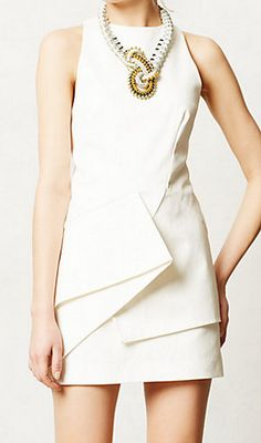 Gorgeous for a courthouse, or a rehearsal dinner! Origami shift dress. http://rstyle.me/n/fg6ba5vge