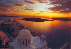 stunning! - Sunset on the Caldera (view from Oia)