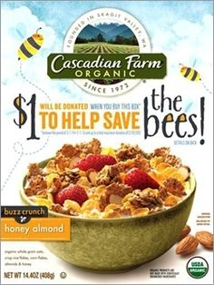 General Mills, which launched Buzz Crunch Honey Almond cereal exclusively at Whole Foods Market stores nationwide back in April, says it is now donating $1 for every box sold, up to $100,000 to the The Xerces Society, an Oregon-based nonprofit and leader in pollinator conservation.