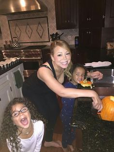 Mariah Carey and the little ones :)