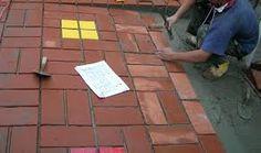 Resultado de imagen para piso de ladrillo y cemento