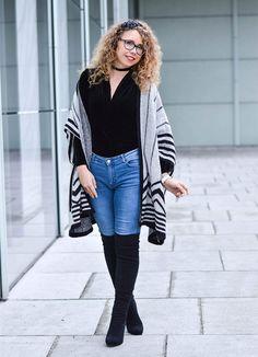 Kationette, Fashionblog, Streetstyle, Zara, Cape, Overknees, Velvet, Bodysuit, ootd, lotd, Outfit, Fashion