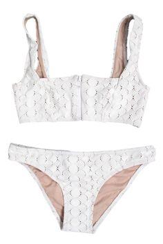 Lover Square Neck Bikini, $224; shoplesnouvelles.com