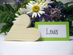 Gastgeschenke - Tischkartenhalter Herz Holz Kartenhalter Hochzeit  - ein Designerstück von kuenstlerei bei DaWanda