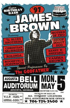James Brown poster Tour Posters, Music Posters, Band Posters, Vintage Concert Posters, Vintage Posters, Soul Music, Art Music, Norman Rockwell, The Blues Brothers