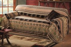 Lodge Style Furniture and Accessories . Breathtaking Lodge Style Furniture and Accessories Ideas. Lodge Style Decor Home and Decor Near Me Lovely Decor Nest Decor Black Bear Decor, Black Forest Decor, Sofa Throw Cover, Couch Covers, Cabin Furniture, Furniture Covers, Furniture Design, Latest Sofa Designs, Rustic Couch