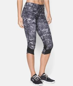 Women's UA Printed Fly-By Compression Capri   Under Armour CA