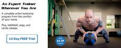 JohnnyFit Online - Online bootcamp program: TRX, kettlebell, dumbbell, bodyweight, cardio, yoga