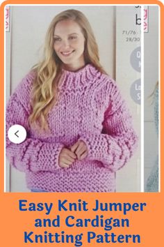 There's something irresistible about chunky jumpers and cardigans. Wearing one is like being in a warm and loving hug with no end. They are a must-have and a great challenge to intermediary knitters. Experienced ones will have an easier time completing the sweater. These easy to make jumpers and cardigans are not only warm and great way to keep the cold weather at bay but also deadly cute. #cardiganpatterns#knittedcardiganpattern#knittingpatterns#easyknitting#knittingathome#easycardiganpatterns Jumper Patterns, Knitting Patterns, Sewing Patterns, Shoulder Cut, Cardigans, Sweaters, Chunky Yarn, Getting Cozy, Jumpers