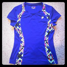 Fila Workout Top Royal Blue/Purple Fila Workout Top. Not nike, just listed that way for exposure Nike Tops Tees - Short Sleeve
