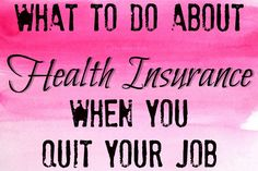 Hate your job but not sure what to do to find your own health insurance? It's actually super easy to buy it yourself.