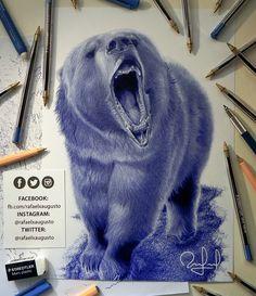 Wild. #Drawing #Ink #Bear #Grizzly #rafaelxaugusto