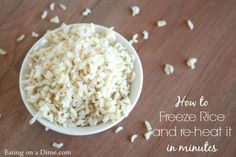 how to freeze rice and reheat it in minutes