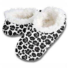 Snoozies Leopard Footie (Medium / 7-8, Gray)
