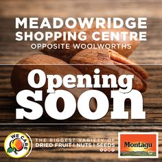 A brand new Montagu store is heading to Meadowridge! Shopping Center, Seeds, Bread, Fruit, Store, Food, Shopping Mall, Storage, Eten
