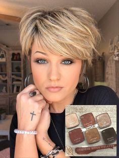 Short Hair With Layers, Layered Hair, Short Hair Cuts, Short Hair Styles, Short Sassy Haircuts, Beauty Makeover, Hair Color Pink, Pixie Hairstyles, Hair Today