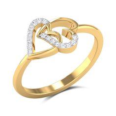 Interlocking Hearts Diamond Engagement Ring