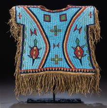 SIOUX BOY'S BEADED SHIRT. c. 1875...