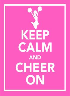 11x14 Keep Calm and Cheer On Customizable by PigtailsAndPeonies