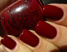 """Polishes I Own OPI """"Skyfall"""" - Part of the James Bond collection. An exquisite maroon creme. It was perfect for my Thanksgiving manicure. Opi Nail Polish, Opi Nails, Nail Polish Colors, Nail Polishes, Shellac, Cute Nails, Pretty Nails, Oxblood Nails, Opi Colors"""