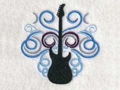 Guitars Machine Embroidery Designs http://www.designsbysick.com/details/guitars