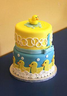 Rubber Ducky Baby Shower Cake Custom Baby Shower Cakes Rubber