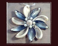 "RESERVED-RK Sea Shell Keepsake Ornament Accent #139 (Size 5.25""), Beach/Nautical/Coastal Decor, Keepsake Ornament/Wall Accent"
