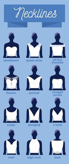 15 Charts Every Bride-To-Be Needs To Pin To Their Wedding Board Right Now 15 Diagramme, die jede werdende Braut sofort an ihrem Hochzeitstafel anheften muss Fashion Terms, Fashion Dictionary, Fashion Vocabulary, Fashion Design Sketches, Blouse Designs, Designer Dresses, Marie, Ideias Fashion, Fashion Ideas