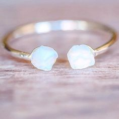 Silver Mermaid Tail Opal Ring | Bohemian Jewelry | Indie and Harper