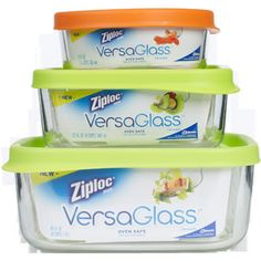 Containers for oven, fridge & freezer.
